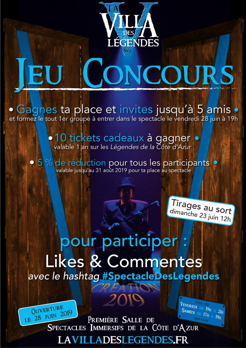 La Villa Des Legendes Jeu Concours La Plus Grande Salle D Aventures Immersives De La Cote D Azur